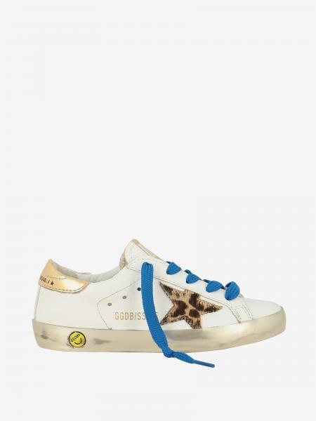 Golden Goose leather sneakers with animal star