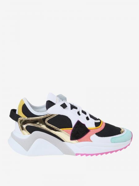 Philippe Model Sneakers aus Mesh-Wildleder und Leder