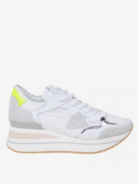 Philippe Model Sneakers aus Nylon und Wildleder
