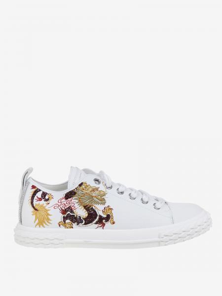 Sneakers Giuseppe Zanotti Design in pelle con ricamo drago