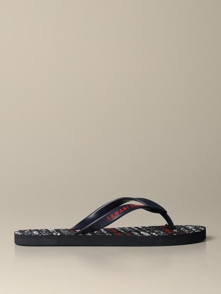 Armani Exchange flip flop sandal with all over logo