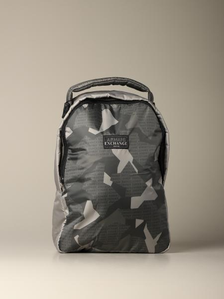Armani Exchange backpack in camouflage nylon