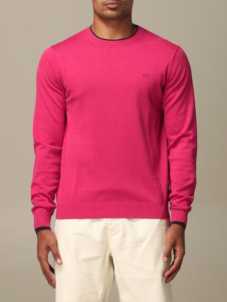 Sun 68 sweater with long-sleeved logo