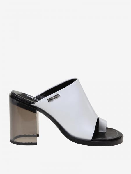 Kenzo logo 真皮凉鞋