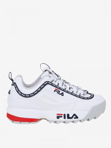 Fila Leder Sneakers mit all over Logo