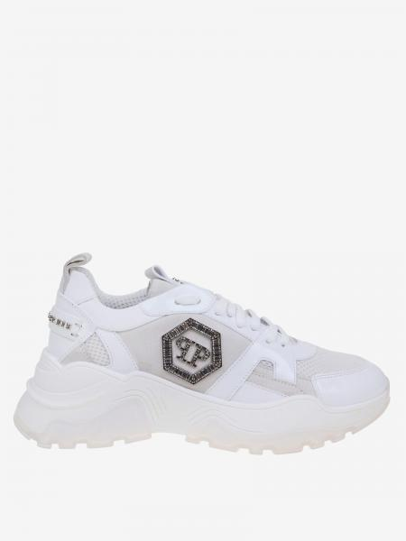 Philipp Plein sneakers in leather and mesh with PP monogram