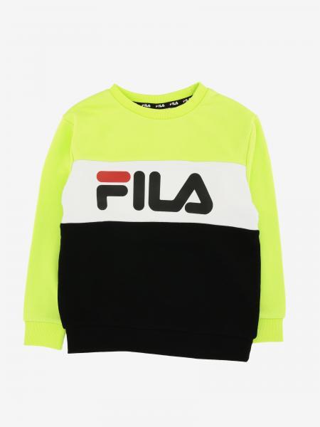 Fila Sweatshirt mit Rundhalsausschnitt und Logo