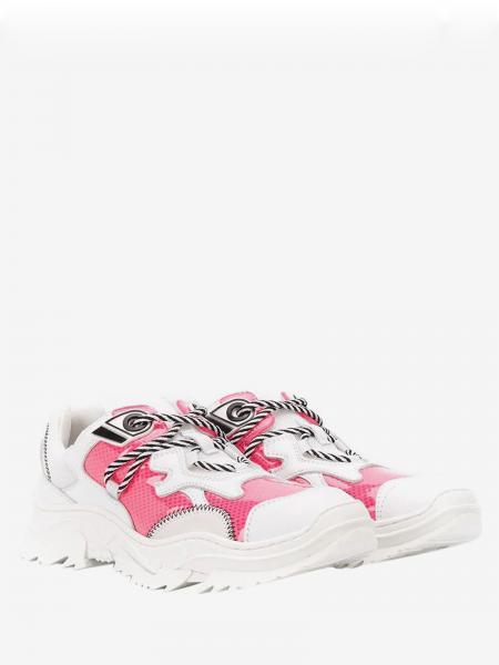 Sneakers N° 21 in pelle e glitter
