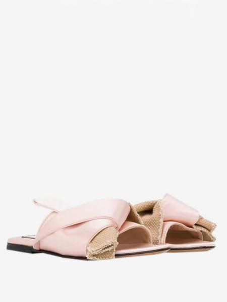 Sandalo N°21 in pelle e tela
