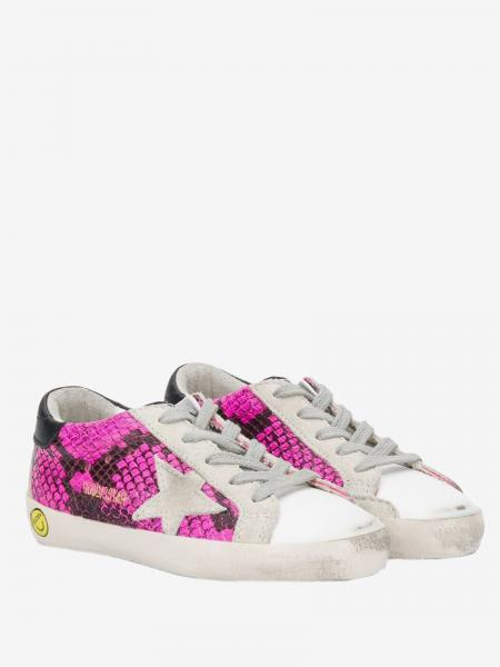 Golden Goose sneakers in python print leather and suede