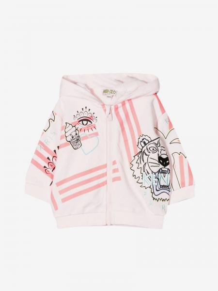 Kenzo Junior sweatshirt with hood and multi prints