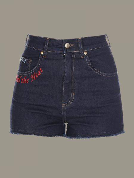Versace Jeans denim shorts with logo