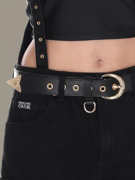 Cintura Versace Jeans in pelle con finiture metalliche