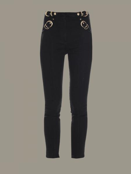 Versace Jeans trousers with metal buckles