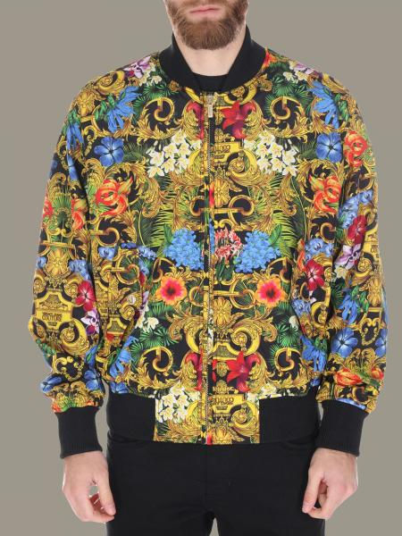 Versace Jeans bomber jacket with floral baroque print