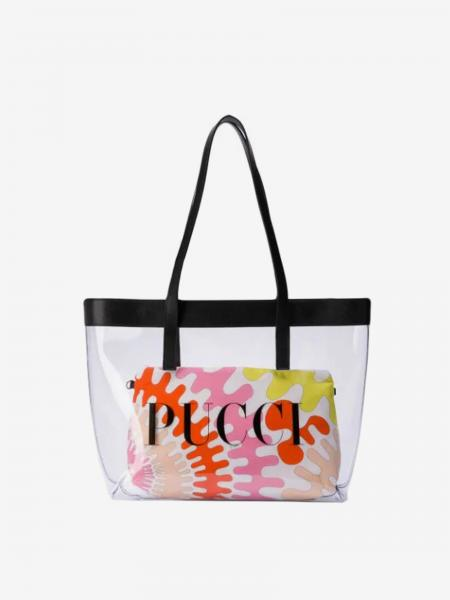 Emilio Pucci bag in pvc with patterned clutch bag
