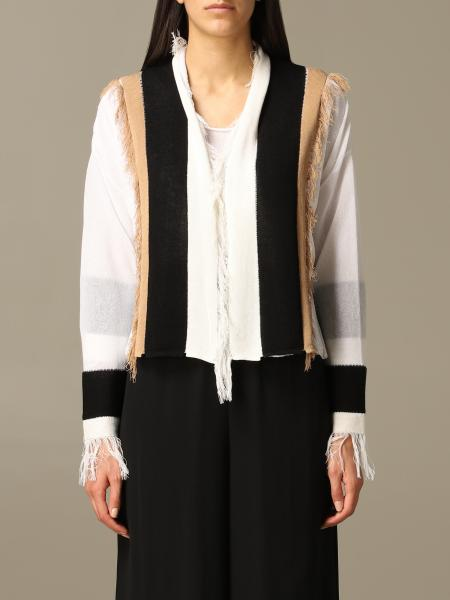 Pierantoniogaspari cardigan with colored profiles