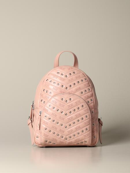 Mini Pinko backpack in leather with studs