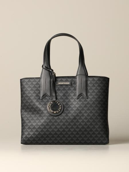 Borsa a mano Emporio Armani con logo all over