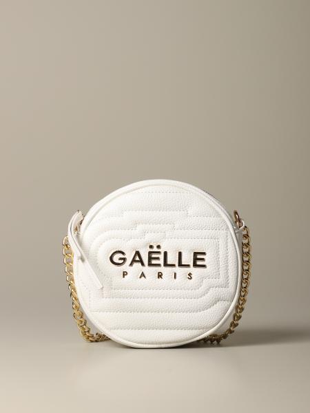 Borsa a tracolla Gaelle Bonheur in pelle trapuntata con logo