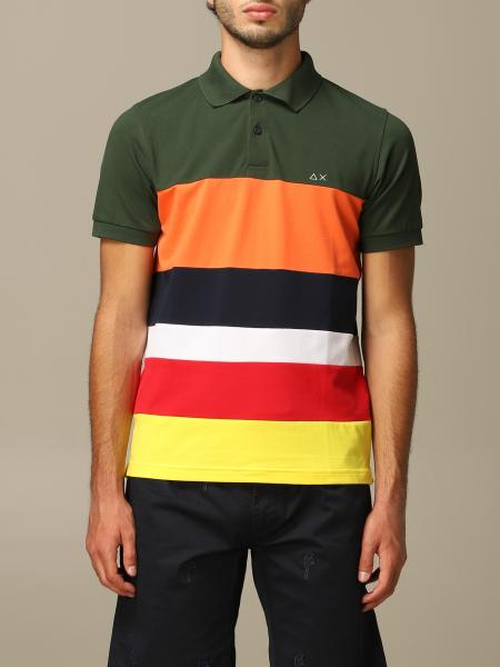 Sun 68 polo shirts with colored bands