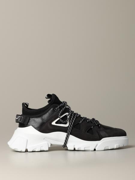 Sneakers Mcq Mcqueen in pelle nabuk e macro rete