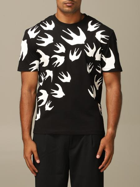Mcq Mcqueen t-shirt with all over swallow print