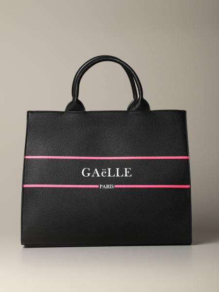 Borsa tote large Gaelle Bonheur con logo