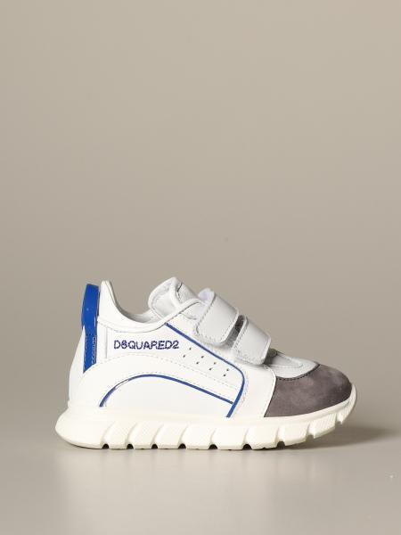 Sneakers Dsquared2 Junior in pelle e camoscio