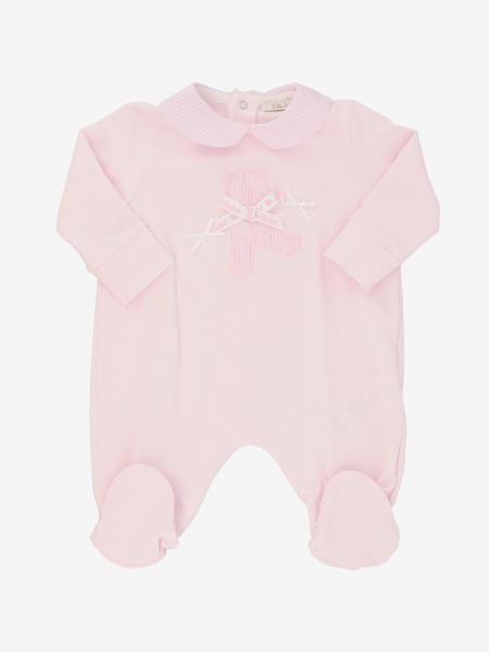 Tutina con piede Le Bebè con logo e fiocco