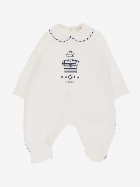 Tutina Le Bebé con bordi a righe e stampa