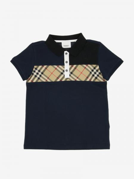 Polo Burberry Infant con banda check