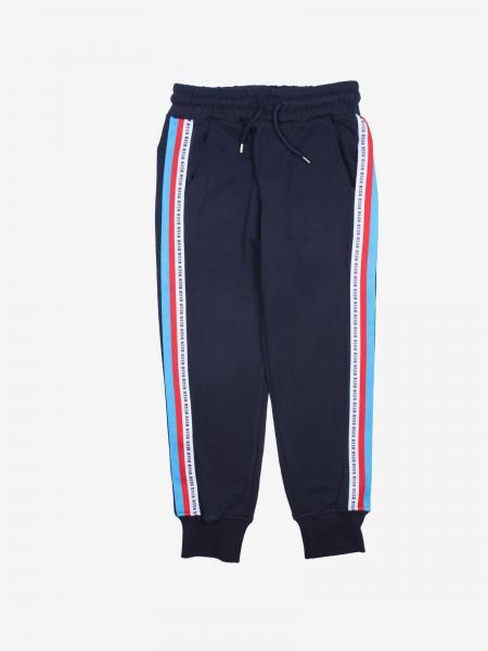 Pantalone jogging Msgm Kids con bande a righe