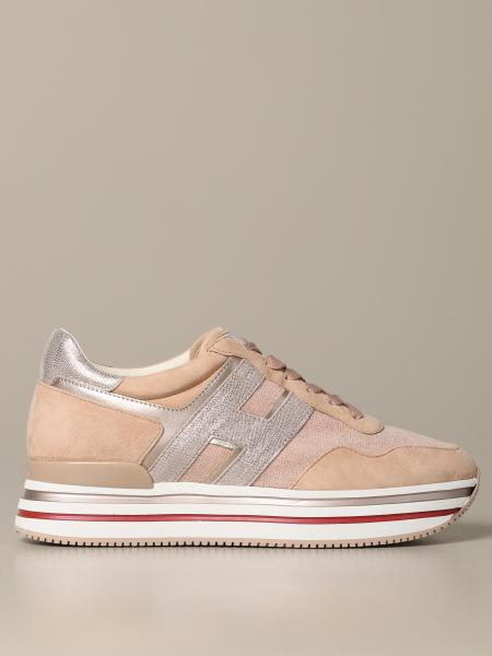Hogan sneakers in suede and laminated leather