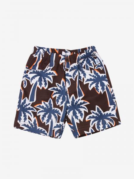 Il Gufo Shorts mit rundum Palmen Print