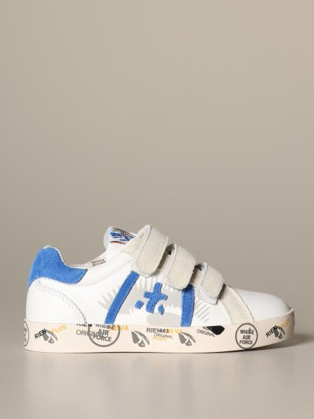 Sneakers Premiata in pelle e camoscio
