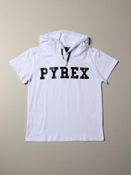 Pyrex T-shirt with hood and logo