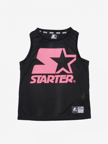 Starter micro mesh tank top with print