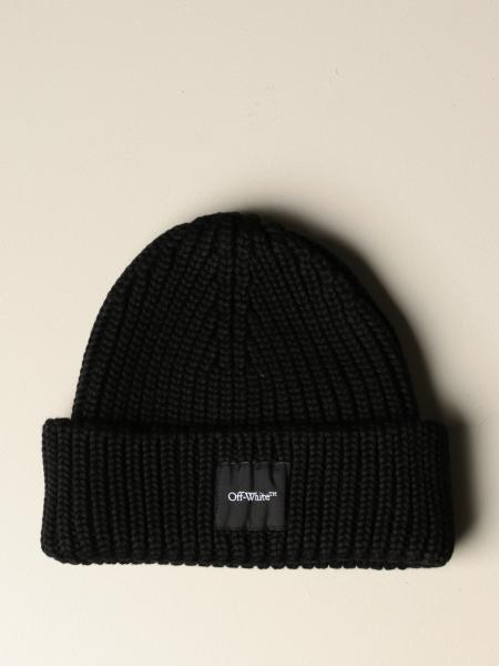 Off White pure wool hat with logo