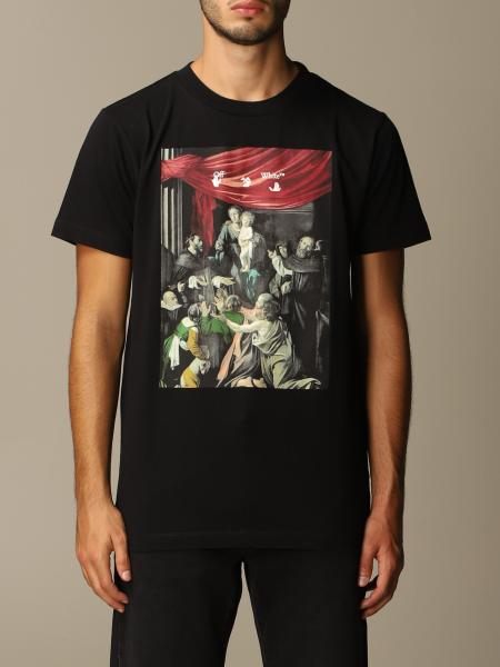 Off White men: Off White cotton t-shirt with big arrows