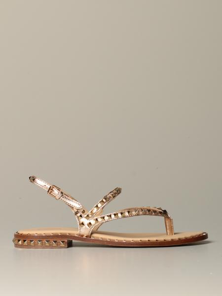 Ash low sandal in leather with studs