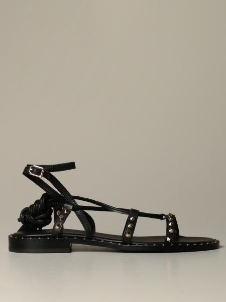 Ash Flat sandal in studded leather