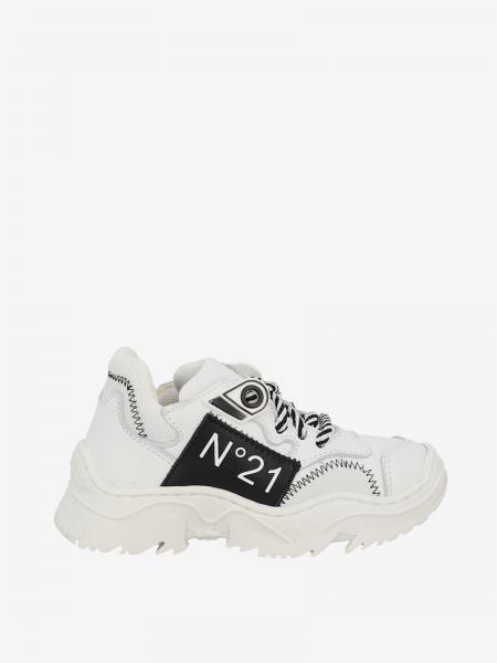 Sneakers N° 21 in pelle con logo