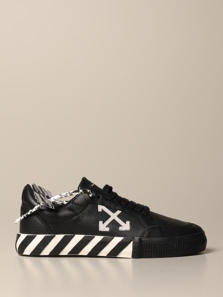 Off White leather sneakers with maxi arrow