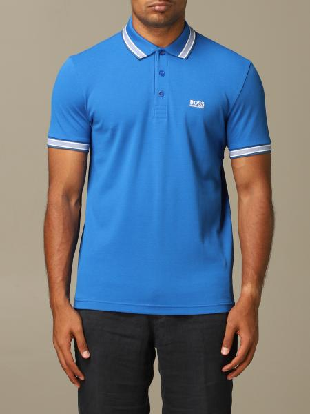 Boss polo shirt with striped edges