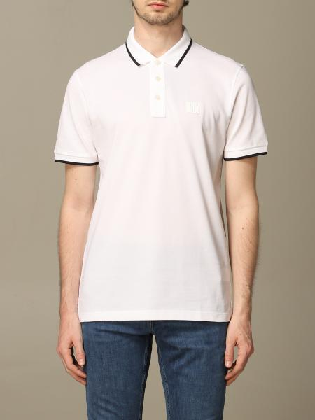 Boss polo shirt with short sleeves and colored edges
