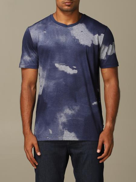 Boss printed cotton T-shirt
