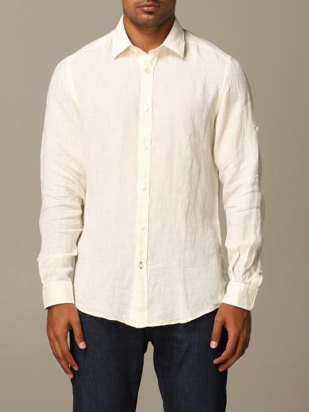 Boss linen shirt with Italian collar