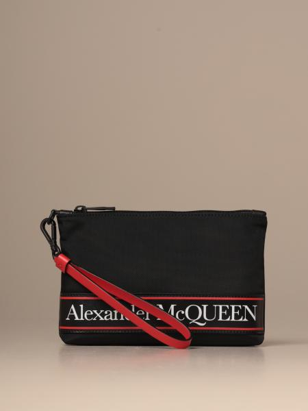 Mcq McQueen wrist clutch in canvas with logoed band