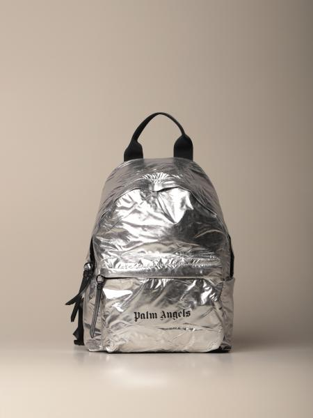 Palm Angels metallic backpack with logo